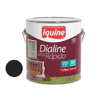 Esmalte Brilhante Dialine Secagem Rápida Premium Preto 3,6 Litros - Ref.62205701 - IQUINE