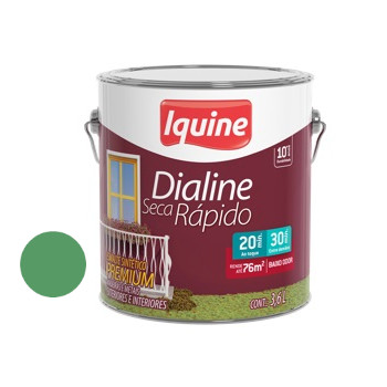 Esmalte Brilhante Dialine Secagem Rápida Premium Verde Nilo 3,6 Litros - Ref.62203601 - IQUINE