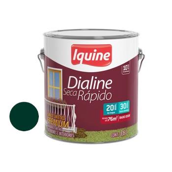 Esmalte Brilhante Dialine Secagem Rápida Premium Verde Colonial 3,6 Litros - Ref.62203201 - IQUINE