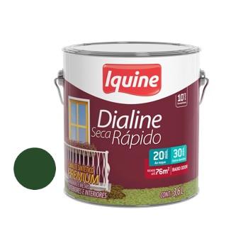 Esmalte Brilhante Dialine Secagem Rápida Premium Verde Folha 3,6 Litros - Ref.62203401 - IQUINE