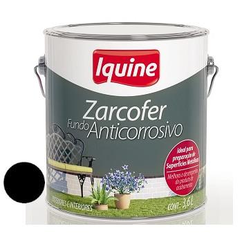 Fundo Sintético Dupla Ação Anticorrosivo Zarcofer Preto 3,6 Litros - Ref. 21205701 - IQUINE