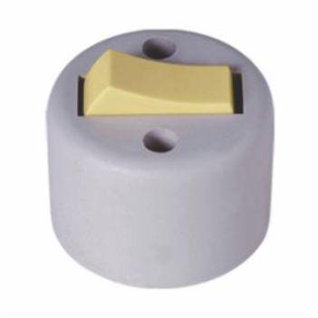 Interruptor Sobrepor 1 Tecla Simples 6A Redondo - Ref.1755 - ILUMI
