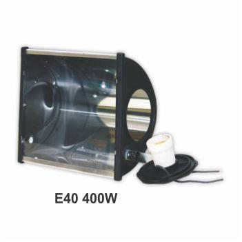 Refletor Alumínio 400w E40 TA400 Preto - Ref. 02070008-03 - TASCHIBRA