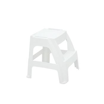 Banqueta Plastica Paiva Escada Branco - Ref. 92421/010 - TRAMONTINA
