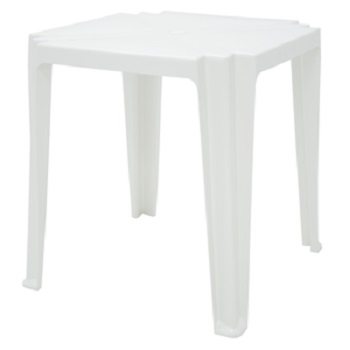 Mesa Plástica 68cm Quadrada Tambaú Branca - Ref.92314/010 - TRAMONTINA