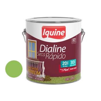Esmalte Brilhante Dialine Secagem Rápida Premium Verde Limão 3,6 Litros - Ref.62214401 - IQUINE