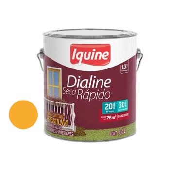 Esmalte Brilhante Dialine Secagem Rápida Premium Laranja Cítrico 3,6 Litros - Ref.62214501 - IQUINE