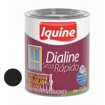 Esmalte Brilhante Dialine Secagem Rápida Premium Preto 112,5ml - Ref.62205732 - IQUINE