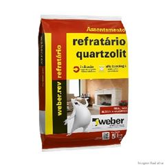Argamassa Saco com 5kg para Tijolo Refratário Cinza - Ref.0068.00001.0030FD - QUARTZOLIT