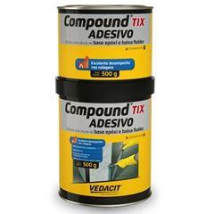 Adesivo Epóxi TIX 1 kg A500g B500g Compound - Ref.121812 - VEDACIT
