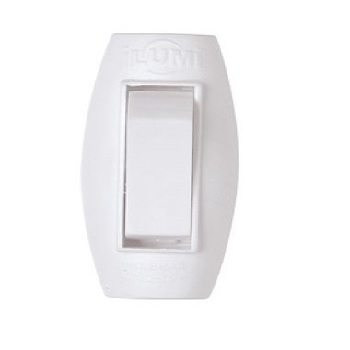 Interruptor 1 Tecla Cordão Abajur 6A Branco - Ref.1647 - ILUMI