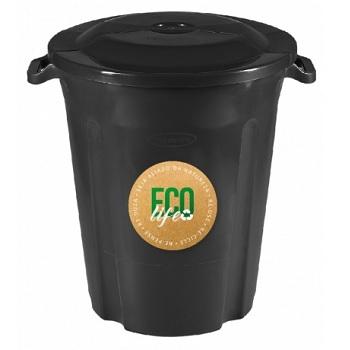 Lixeira Plástica 97 Litros Recycle Preta - Ref164LP8990 - PLASVALE