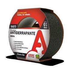 Fita Antiderrapante 50mmx5m Preta - Ref.30063102195 - ADERE