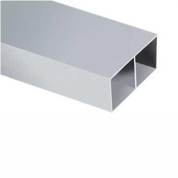 Régua Alumínio 2m Bitubular Com L 4,6x2,1cm - Ref.49 - FAMACOL