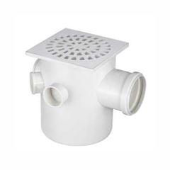 Caixa Sifonada PVC N05 100x100x50 Grelha Quadrada - Ref.0904 - KRONA