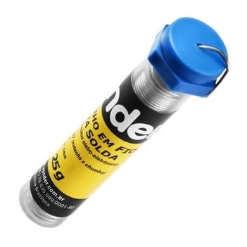 Arame Estanho 1mm Tubo 25G Soldável - Ref.7438633715 - VONDER