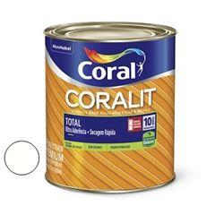 Tinta Esmalte Sintético Brilhante Coralit Zero Branco 900ml - Ref. 5202888 - CORAL
