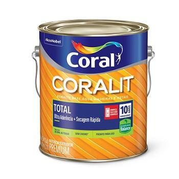 Base P Tinta Esmalte Brilhante Coralit Zero 3,2 Litros - Ref. 5202981 - CORAL