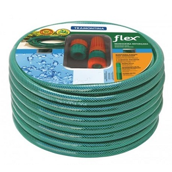 Mangueira PVC 1/2 10m de Jardim Flex Verde - Ref.79172/100 - TRAMONTINA
