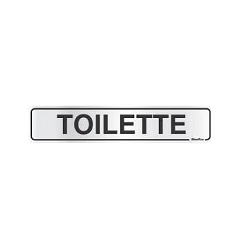 Placa De Alumínio 05x25cm Toilette -  Ref. 100AP - SINALIZE
