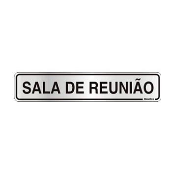 PLACA ALU 05X25CM SALA DE REUNIAO SINALI