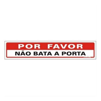 PLACA PVC 05X25CM POR FAV N BTA PORTA S