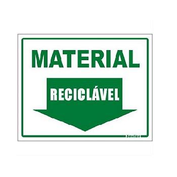 PLACA PVC 15X20CM LIXO RECICLAVEL SINALI