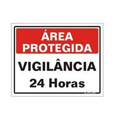 PLACA PVC 15X20CM AREA PROTEG VG 24H SIN