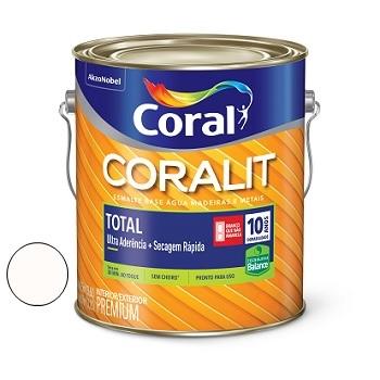 Tinta Esmalte Sintético Acetinado Coralit Zero Branco 3,6 Litros - Ref. 5202907 - CORAL