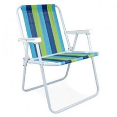 Cadeira  em Aço para Praia Alta Branca - Ref. 002002 - Mor