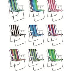 Cadeira em Alumínio de Praia Alta Cores - Ref.002101 - MOR