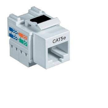 Conector RJ45 Cat5e Fêmea Branco - Ref. 50050013 - LEMOS