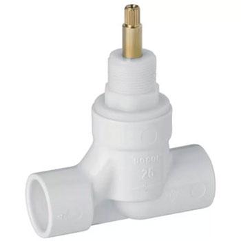 Registro Pressão PVC 25mm Basetec 1/2 Volta - Ref.00494700 - DOCOL