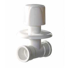 Registro de Pressão PVC 25mm Soldável com Canopla Plus Branco - Ref. 2866 - HERC