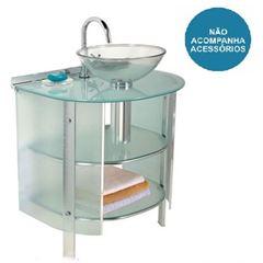 Gabinete para Banheiro em Alumínio 62x48x88 Space Cuba 989- Ref. 00000000989-0 - CRIS METAL