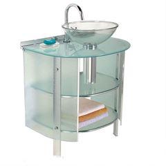 Gabinete Banheiro Aluminio 80x75x48 Space Com Cuba 990 - Ref. 000000009903 - CRISMETAL