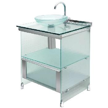 Gabinete 62x48x88 Banheiro Space  Aluminio - Ref. 000000009911 - CRISMETAL