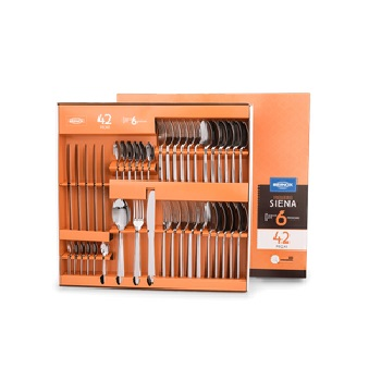 Faqueiro de Aço Inox com 42 Peças Siena - Ref.5109/120 -  BRINOX
