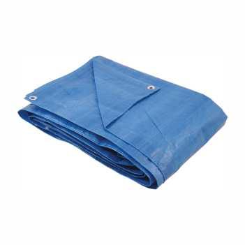Lona Polietileno 6x6m Ilhoses Azul - Ref.6158066000 - DISMA