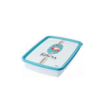 Porta Talher de Plástico com 4 divisórias Decorativa com Tampa - Ref.005268 - PLASUTIL