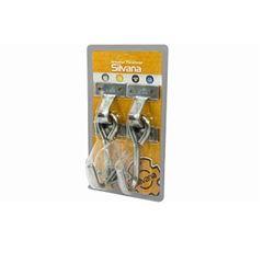 Armador para Rede Inox de Parafusar Cartela com2 Cromado - Ref.97671 - SILVANA