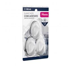 Gancho Plástico Adesivo Fixa Fácil Cartela com 3 Peças - Ref.2503 - PRIMAFER