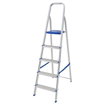 Escada de Alumínio 5 Degraus Tesoura - Ref. 005103 - MOR