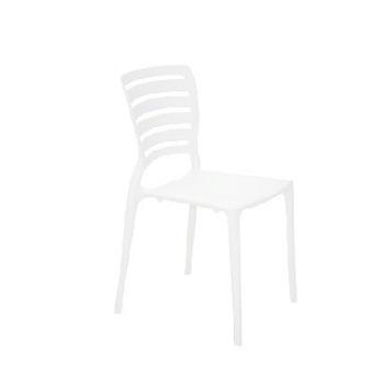 Cadeira em Polipropileno Sofia Encosto Vazado Branca - Ref. 92237/010 -TRAMONTINA