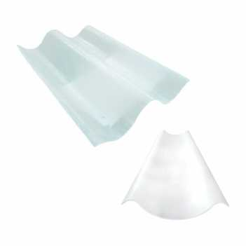 Telha Translúcida Polipropileno 0,51x0,38 2 Onda 1,1mm - Ref.678 - GRANPLAST