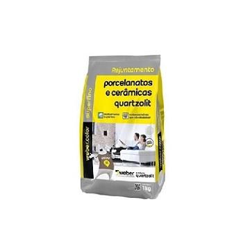 Rejunte Para Porcelanato Saco Com 1kg Cinza Platina - Ref.0110000200015FD - QUARTZOLIT
