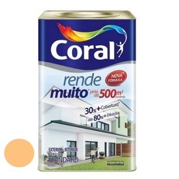 Tinta Acrílica Fosca Rende Muito Laranja Cítrico 18 Litros - Ref. 5202168 - CORAL