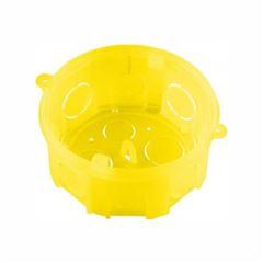 Caixa Luz PVC 4x4 Octogonal Amarela - Ref.1255 - KRONA