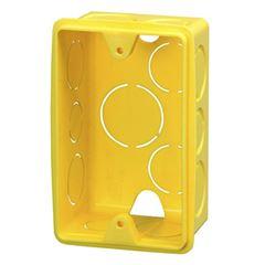 Caixa Luz PVC 4x2 Reta Amarela - Ref.1265 - KRONA