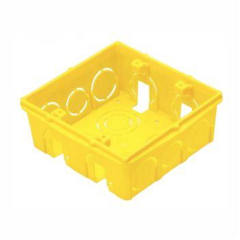 Caixa Luz PVC 4x4 Quadrada Amarela - Ref.1266 - KRONA